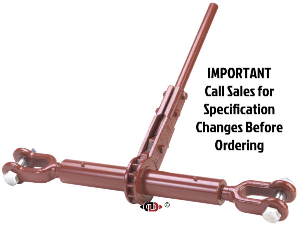 (CDR) Specialty Compactor Series – Ratchet Binder with Jaw – Jaw + 1-3/4″ Screw Diam.