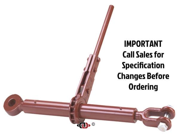 (CDR) Specialty Compactor Series – Ratchet Binder with Jaw – Eye + 1-3/4″ Screw Diameter
