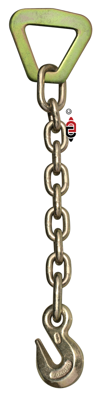 18″ G43 Chain Anchor with 2″ Delta Ring & 3/8″ Eye Grab Hook