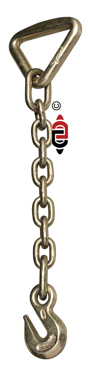 18″ G43 Chain Anchor with 3″ Delta Ring & 3/8″ Eye Grab Hook