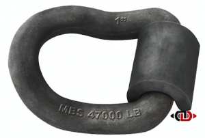 "1"" Weld-On Angled D-Ring with 15,600 Lb. Work Load Limit D-RING-WO-1A"