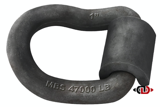 1″ Weld-On Angled D-Ring with 15,600 Lb. Work Load Limit.