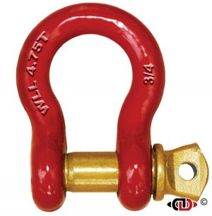 3/4″ 4.75 Ton High Carbon Heat Treated Anchor Shackle with Forged Screw Pin