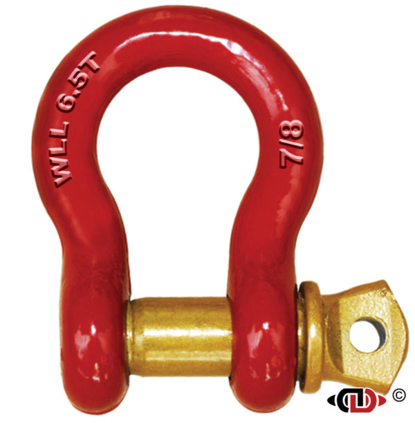 7/8″ 6.5 Ton High Carbon Heat Treated Anchor Shackle with Forged Screw Pin