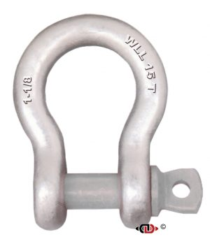 1-1/8″ 15 Ton Forged Anchor Shackle with Forged Screw Pin