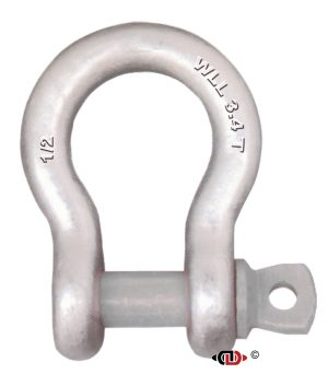 1/2″ 3.4 Ton Forged Anchor Shackle with Forged Screw Pin