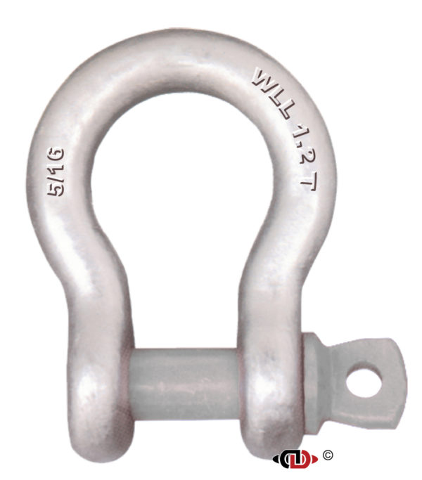 5/16″ 1.2 Ton Forged Anchor Shackle with Forged Screw Pin