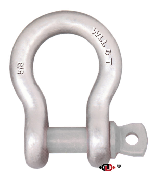 5/8″ 5 Ton Forged Anchor Shackle with Forged Screw Pin