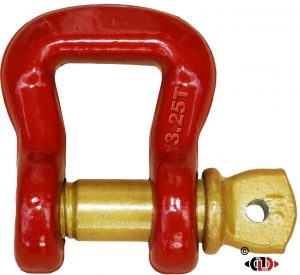 3.25 Ton Web & RoundSling All Forged Shackle & Screw Pin
