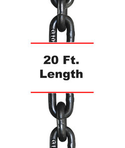G100 – 1/2″ x 20′ Tow and Binder – Recovery – and Lashing Chain w/ Clevis Cradle Grab Hooks.