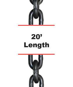 G80 Chain with Clevis Grab Hooks
