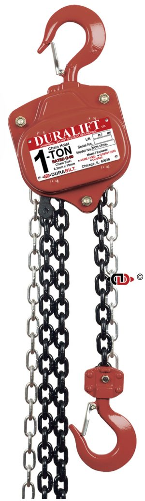 1 Ton DuraLift Chain Hoist with 15 Foot Lift