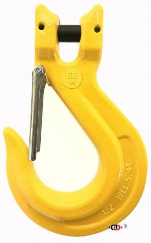 G-80 1/2″ Forged Clevis Sling Hook with Safety Latch.