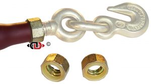 "(RH) Removable Handle Series -  JAM NUT - For Right Hand Threads - Fits 1"" Screw Diam. Jam-Nut-DR-R"