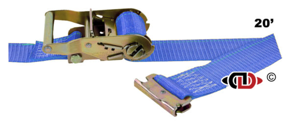 Logistic Strap with Ratchet Handle and EA fittings, Short End is 48″.