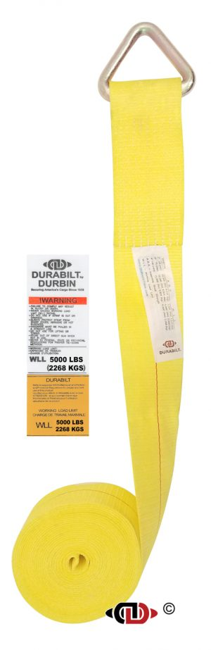 "4"" x 27' Winch Strap w/ Lighter Duty Delta Ring WS-4-27-DR"