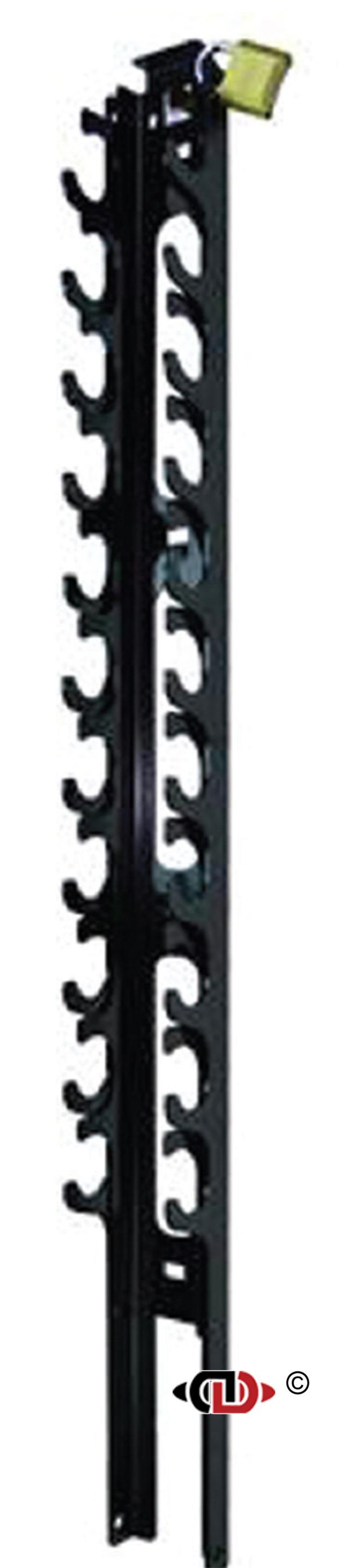 Lockable Aluminum Ratchet Binder Rack - Holds 11 Binders RRA-L11-48