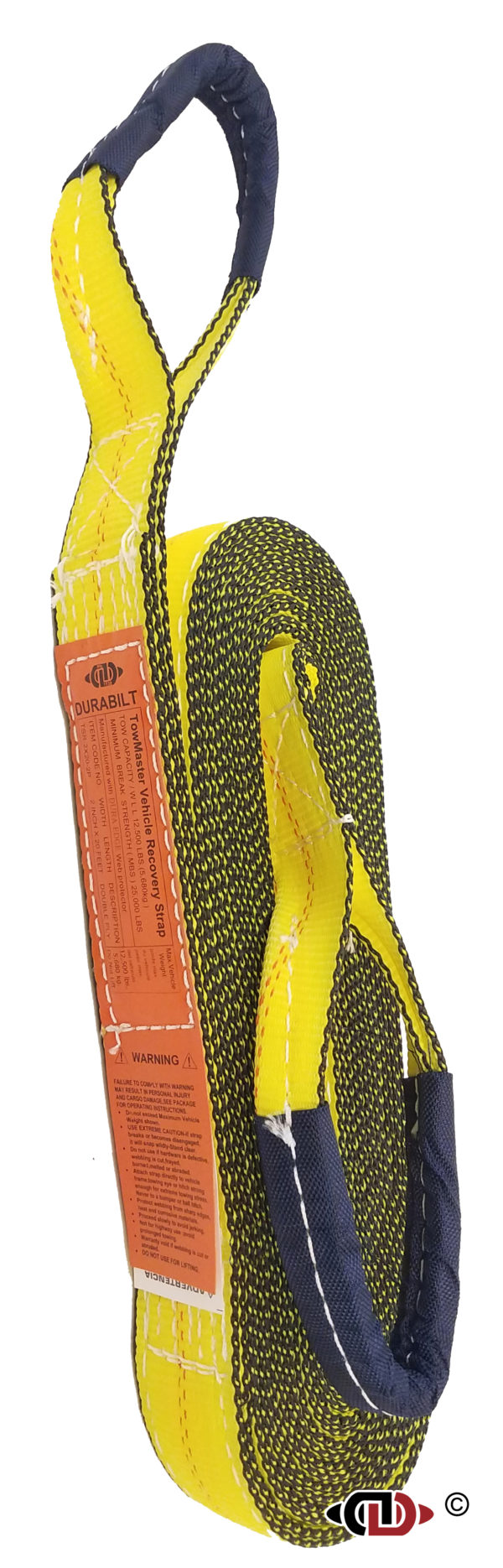 "2 Ply - 2"" x 20' Vehicle Recovery Tow Strap TSR-2x20-2P"