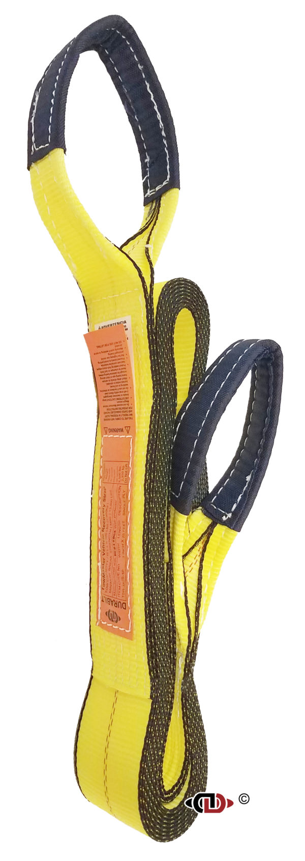 """1 Ply - 3"""" x 25' Vehicle Recovery Tow Strap TSR-3x25-1P"""