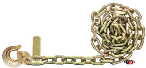 "G7 - 5/16"" Chain with 5/16"" Heavy Duty Latched Sling Hook on One End DBC-516x10-G7-SLG"