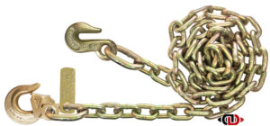 "G7 - 5/16"" Chain with 5/16"" Heavy Duty Latched Sling Hook on One End & 5/16"" Grab Hook on Opposing End DBC-516x12-G7-SLG-G"