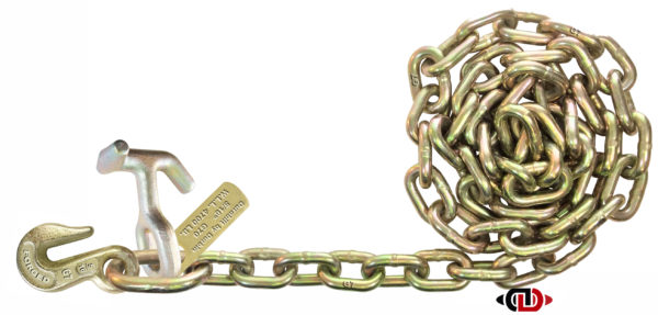 """G7 - 5/16"""" x 8' Chain with 5/16"""" Grab & TJ Combo Hooks on One End DBC-516x8-G7-TJG"""