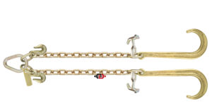 "G7 - 5/16"" x 2' (ea. Leg) V-Chain with 15"" J Hook & TJ Combo Hooks at Pear Link"