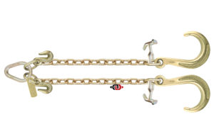 "G7 - 5/16"" x 2' (ea. Leg) V-Chain with 8"" J Hook & TJ Combo Hooks at Pear Link TG7-J8-TJ-V CHAIN 2"