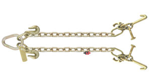 "G7 - 5/16"" x 2' (ea. Leg) V-Chain with RTJ Clusters & Grab Hooks at Pear Link TG7-RT-MJ-V CHAIN 2"