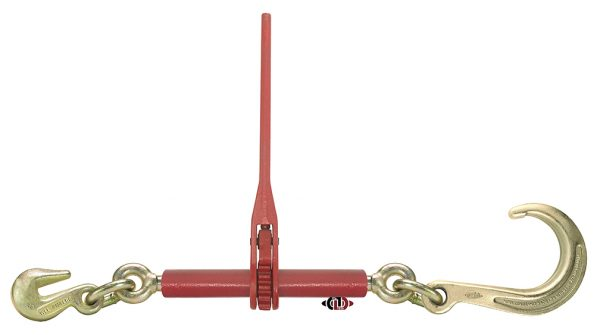 "(TTD) Tow-Tie Down Series – Ratchet Binder with 3/8"" Grab Hook and 8"" J-Hook,  WLL 5,400 Lb. LTR-J8-38"