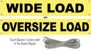 Wide Load / OverSize Load - Double Sided Vinyl Fabric Banner SF-BANNER02-18x84