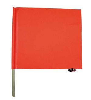 "18"" x 18"" Red Polyester Safety Flag on 24"" Dowel SF-FLG-24DOWEL"