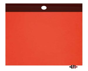 "18"" x 18"" Red Polyester Safety Flag with Vinyl Welt SF-FLG-VINYL WELT"