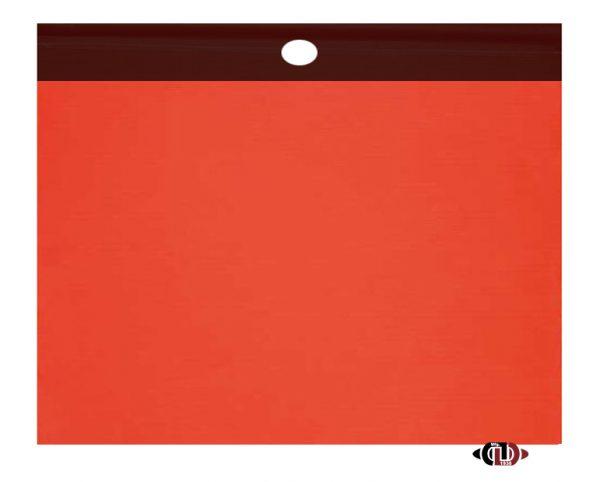 "18"" x 18"" Red Polyester Safety Flag with Vinyl Welt SF-FLG-VINYL WELT"