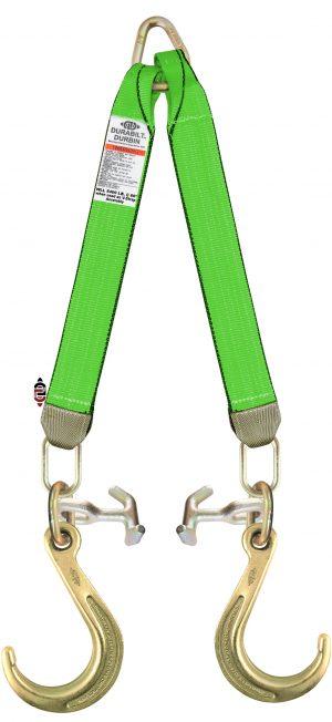 "3 Ply G7 V-Strap with 24"" Legs, 8"" J Hooks, and TJ Combo Hooks TG7-J8-TJ-V STRAP 24"