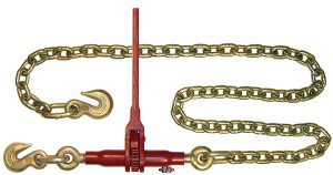 "(LDR) Specialty Series - Ratchet Binder with 3/8"" Grab Hooks & 6 Ft. G8 Chain and 15"" Handle LDR-38-C6"
