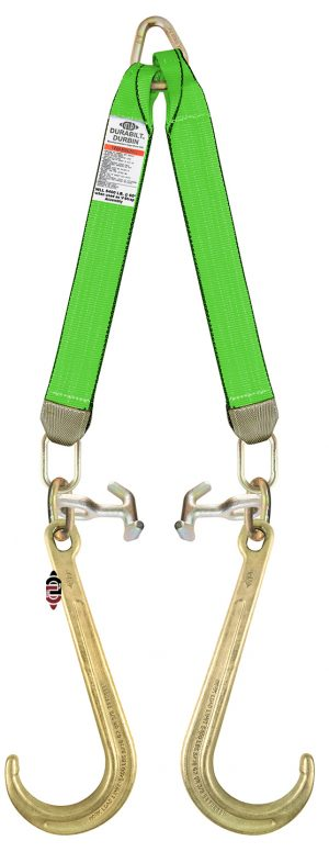 "3 Ply G7 V-Strap with 24"" Legs, 15"" J Hooks, and TJ Combo Hooks TG7-J15-TJ-V STRAP 24"